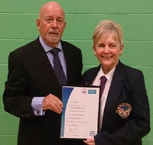 I'm proud to announce Sleaford TAGB club has been certified as an accredited Clubmark club by the BTC and Sport England. As the club Instructor I was honoured to be presented with the certificate by BTC chairman, Mr David Oliver